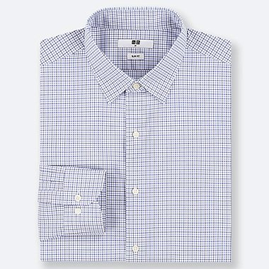MEN EASY CARE STRETCH SLIM FIT CHECKED SHIRT