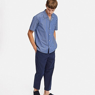 MEN SHORT-SLEEVE PAJAMAS (ONLINE EXCLUSIVE), BLUE, medium