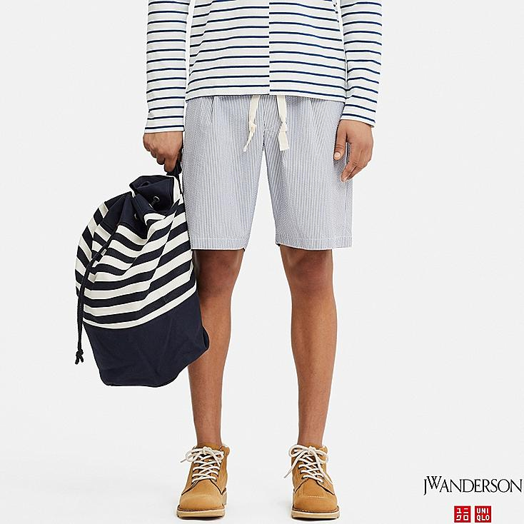 MEN RELAXED DRAWSTRING SHORTS (JW Anderson), BLUE, large