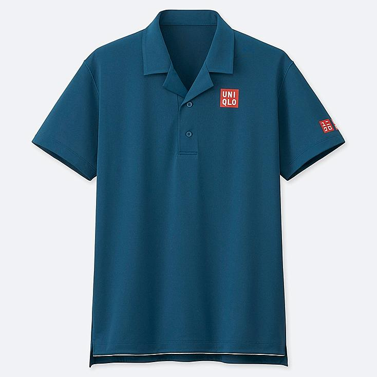 MEN DRY-EX POLO SHIRT (ROGER FEDERER 19AUS), BLUE, large