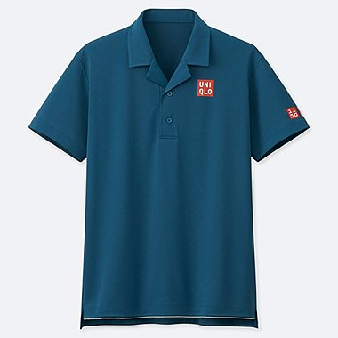 MEN DRY-EX POLO SHIRT (ROGER FEDERER 19AUS), BLUE, medium