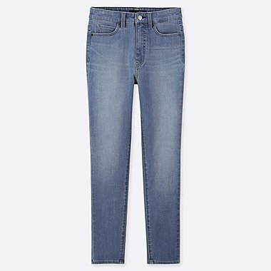 WOMEN HIGH RISE ULTRA STRETCH ANKLE LENGTH JEANS (L28)