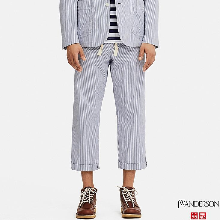 MEN RELAXED DRAWSTRING PANTS (JW Anderson), BLUE, large