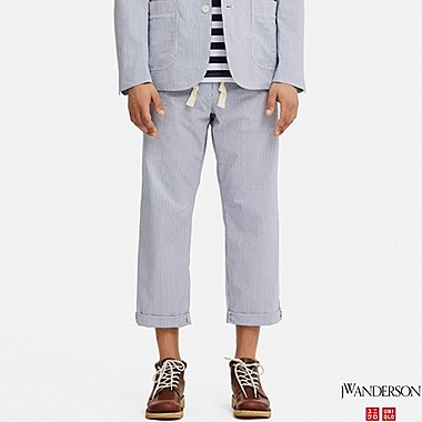MEN RELAXED DRAWSTRING PANTS (JW Anderson), BLUE, medium