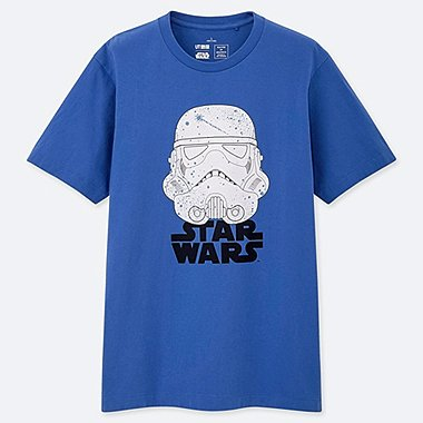 MASTER OF GRAPHICS FEATURING STAR WARS UT JUN TAKAHASHI (SHORT-SLEEVE GRAPHIC T-SHIRT), BLUE, medium