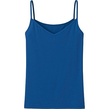 WOMEN AIRism CAMISOLE, BLUE, medium