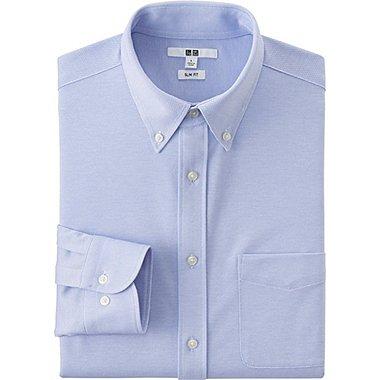 Mens Jersey Comfort Long Sleeve Shirt, BLUE, medium
