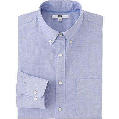 MEN EXTRA FINE COTTON BROADCLOTH LONG SLEEVE SHIRT, BLUE, medium