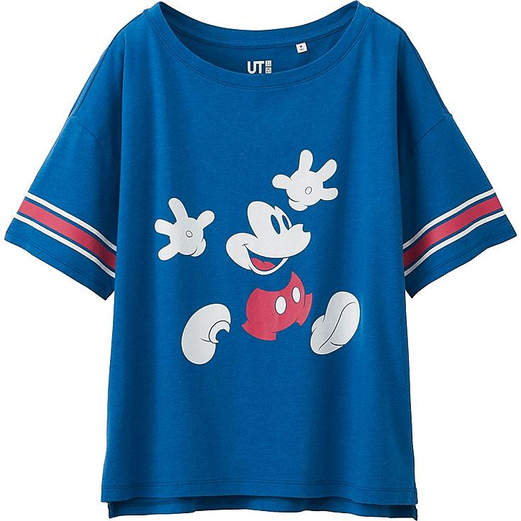 Women Disney Project Graphic T-Shirt, BLUE, large