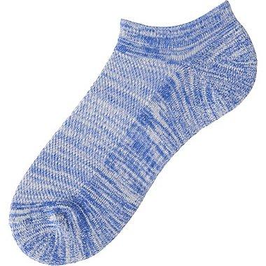 Mens Pile Mesh Ankle Socks, BLUE, medium
