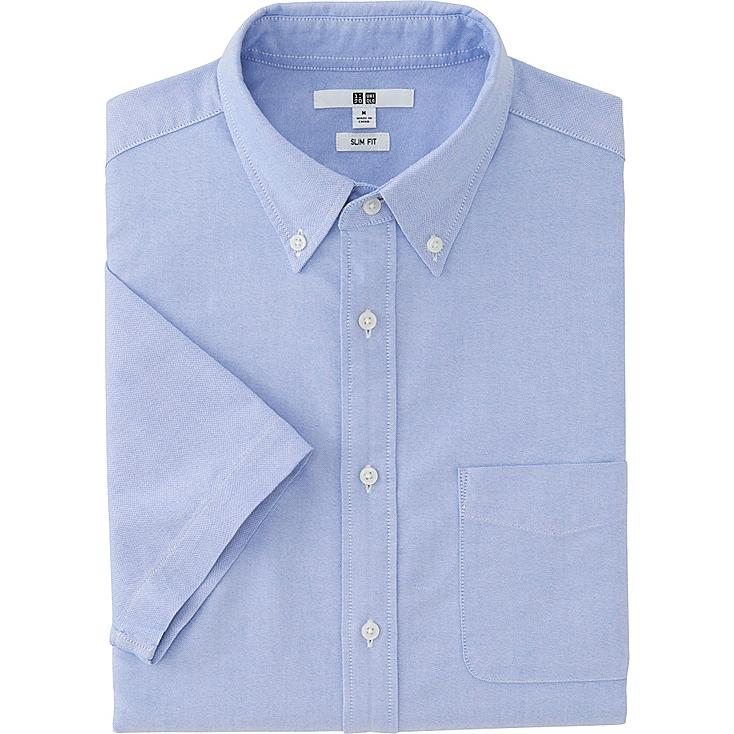 Men Oxford Slim-Fit Short Sleeve Shirt | UNIQLO US