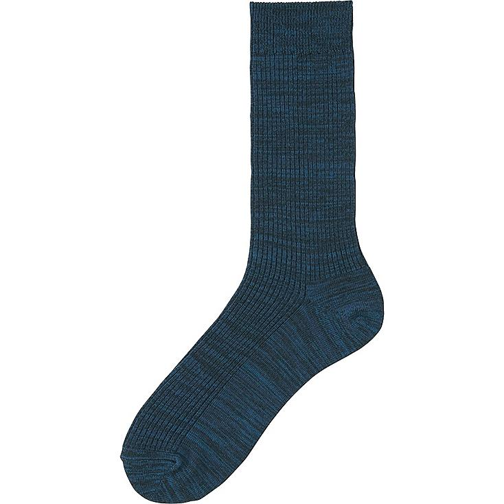 MEN COLOR SOCKS, BLUE, large