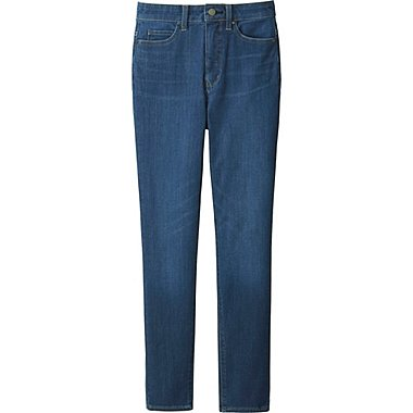WOMEN ULTRA STRETCH HIGH RISE ANKLE JEANS, BLUE, medium