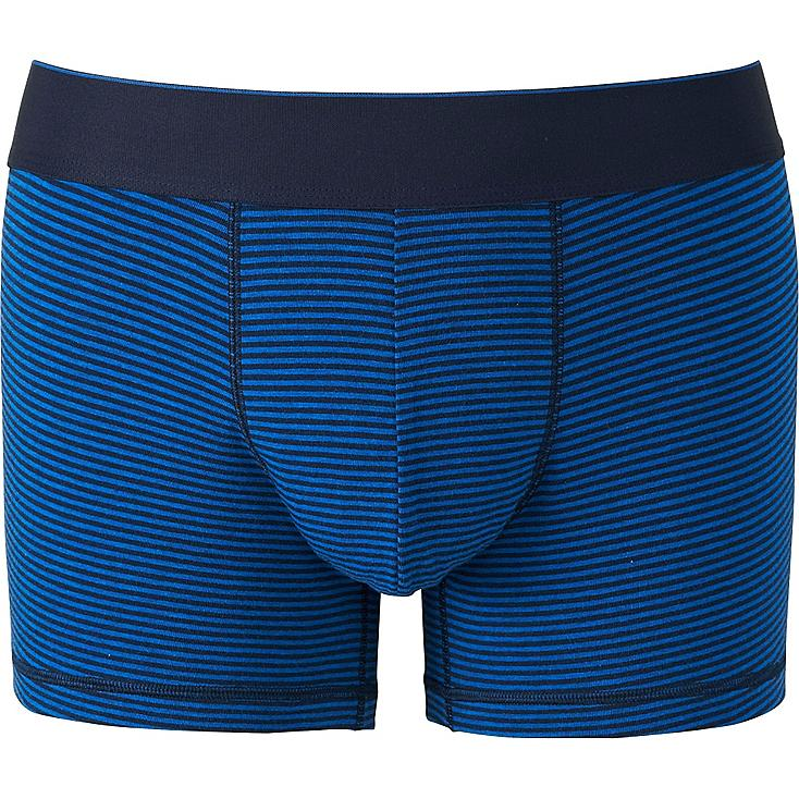 MEN SUPIMA COTTON BOXER BRIEFS (LOW RISE), BLUE, large
