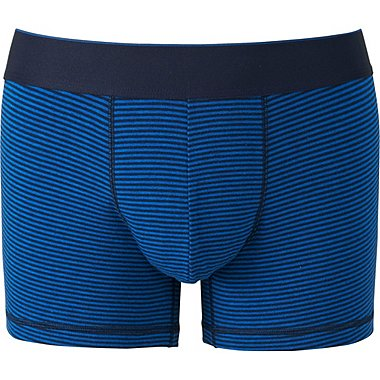 MEN SUPIMA COTTON BOXER BRIEFS (LOW RISE), BLUE, medium