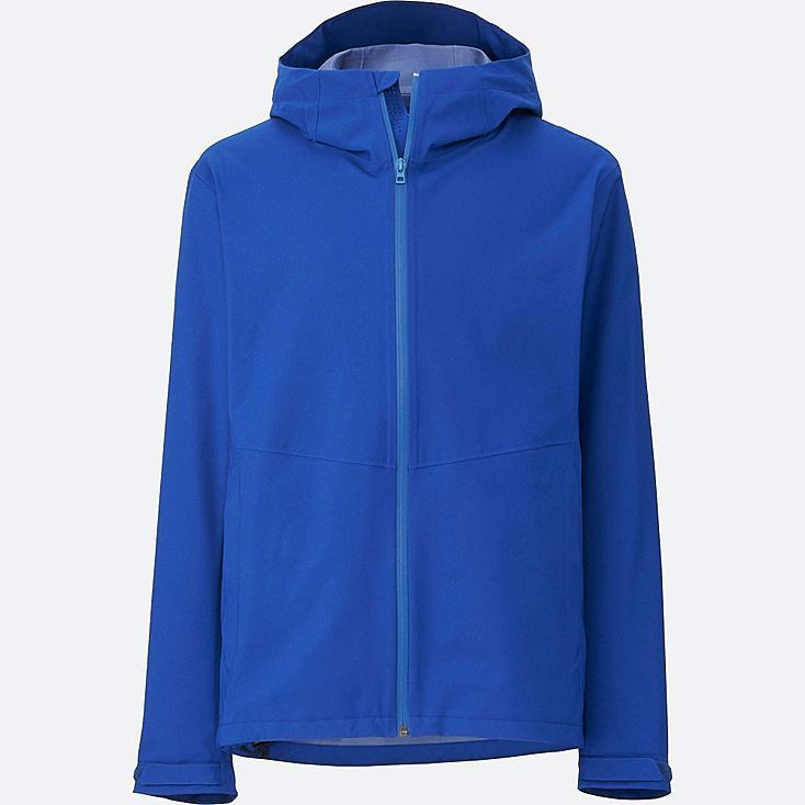 Men Blocktech Hooded Rain Jacket