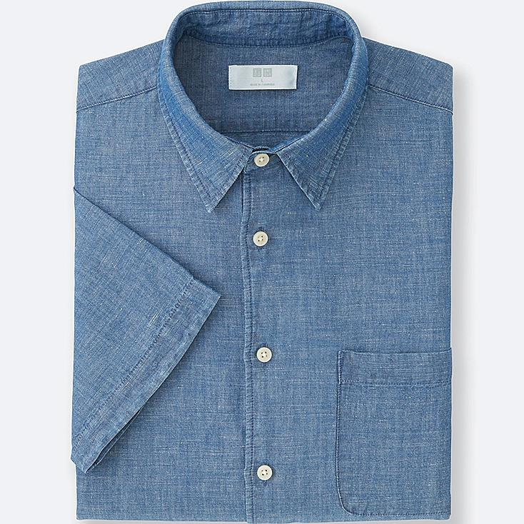MEN LINEN COTTON SHORT SLEEVE SHIRT | UNIQLO US