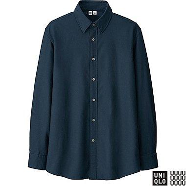 MEN U OXFORD LONG SLEEVE SHIRT, BLUE, medium
