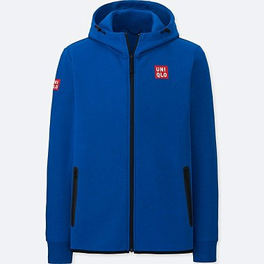 MEN NK DRY STRETCH SWEAT FULL-ZIP HOODIE, BLUE, medium