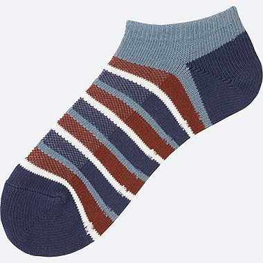 MEN STRIPED SHORT SOCKS, BLUE, medium