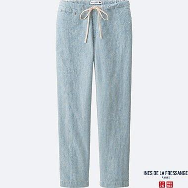 INES Pantalon Casual Lin Mélangé FEMME
