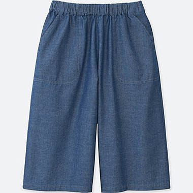 GIRLS Chambray Culottes Trousers