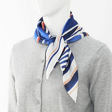 WOMEN Silky Scarf (Stripe)