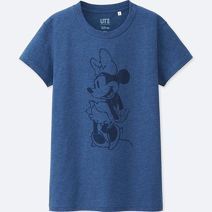 DAMEN T-Shirt Bedruckt MICKEY BLUE