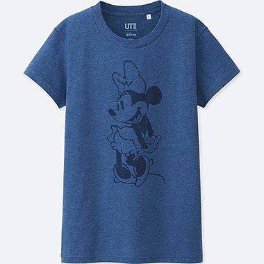 WOMEN MICKEY BLUE SHORT SLEEVE GRAPHIC T-SHIRT, BLUE, medium
