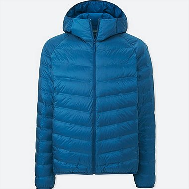 MEN ULTRA LIGHT DOWN SEAMLESS PARKA, BLUE, medium