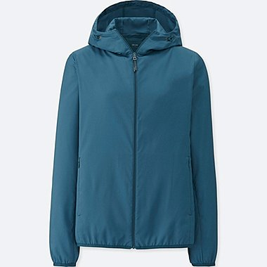 WOMEN POCKETABLE PARKA, BLUE, medium