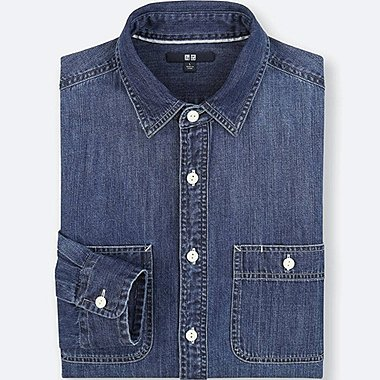 MEN DENIM WORK LONG SLEEVE SHIRT