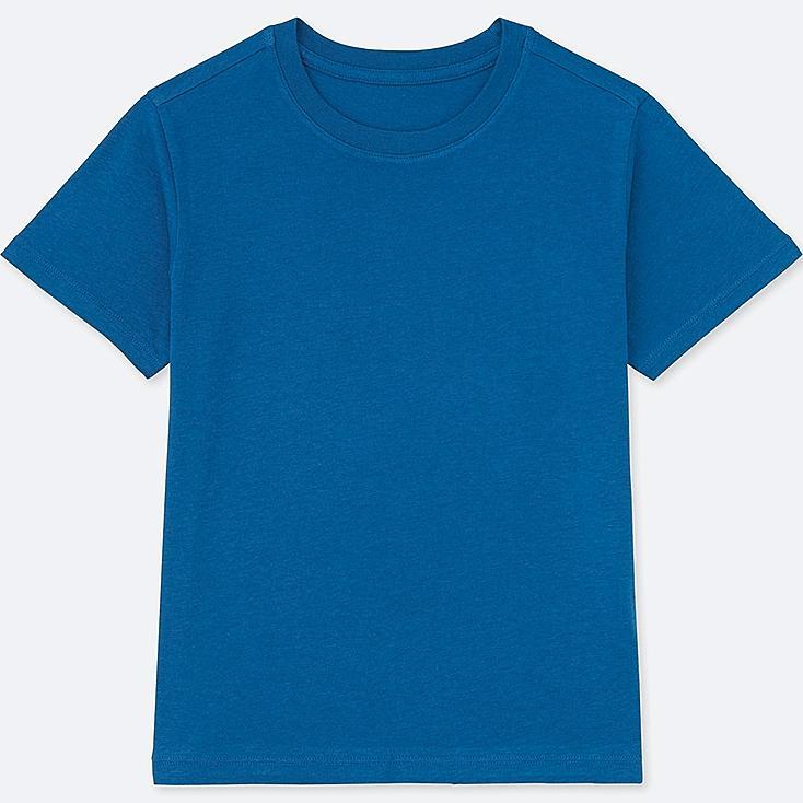 KIDS PACKAGED COLOR CREW NECK SHORT-SLEEVE T-SHIRT, BLUE, large