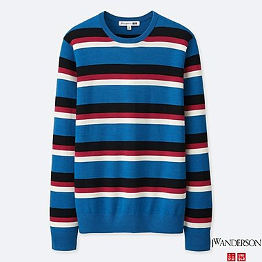 MEN J.W.ANDERSON EXTRA FINE MERINO CREW NECK SWEATER