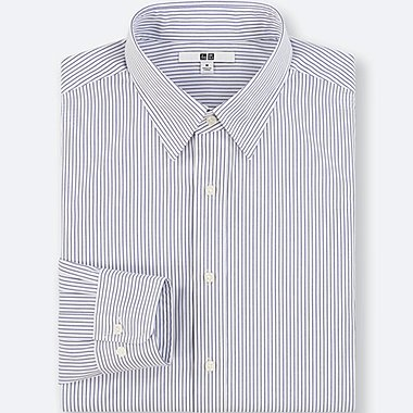 Camisa Easy Care regular fit manga larga a rayas HOMBRE
