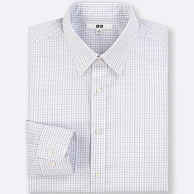 MEN EASY CARE CHECKED REGULAR FIT SHIRT (NO POCKET)