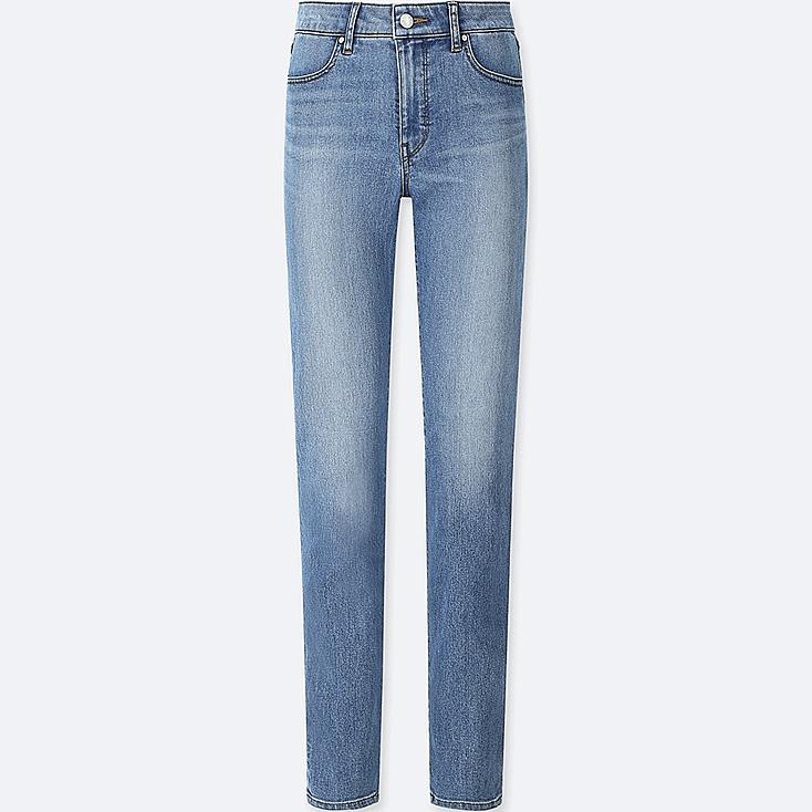 WOMEN HIGH-RISE SLIM-FIT JEANS (ONLINE EXCLUSIVE), BLUE, large