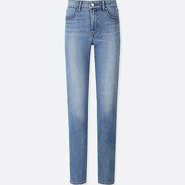 WOMEN HIGH-RISE SLIM FIT JEANS (ONLINE EXCLUSIVE), BLUE, medium