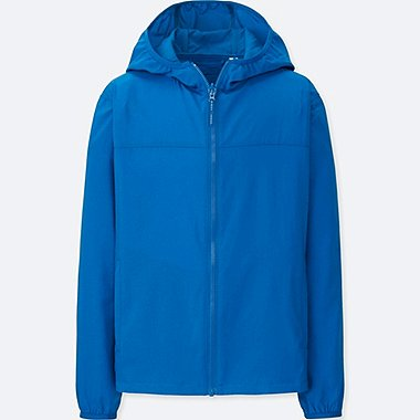 KIDS LIGHT POCKETABLE PARKA, BLUE, medium
