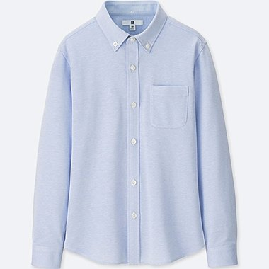 BOYS EASY CARE COMFORT SHIRT, BLUE, medium