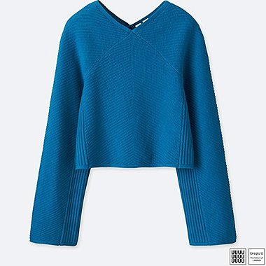 WOMEN UNIQLO U COTTON CASHMERE RAGLAN SLEEVE SWEATER