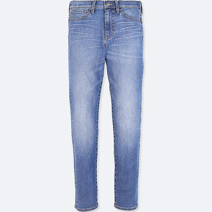 WOMEN HIGH-RISE CIGARETTE JEANS, BLUE, large