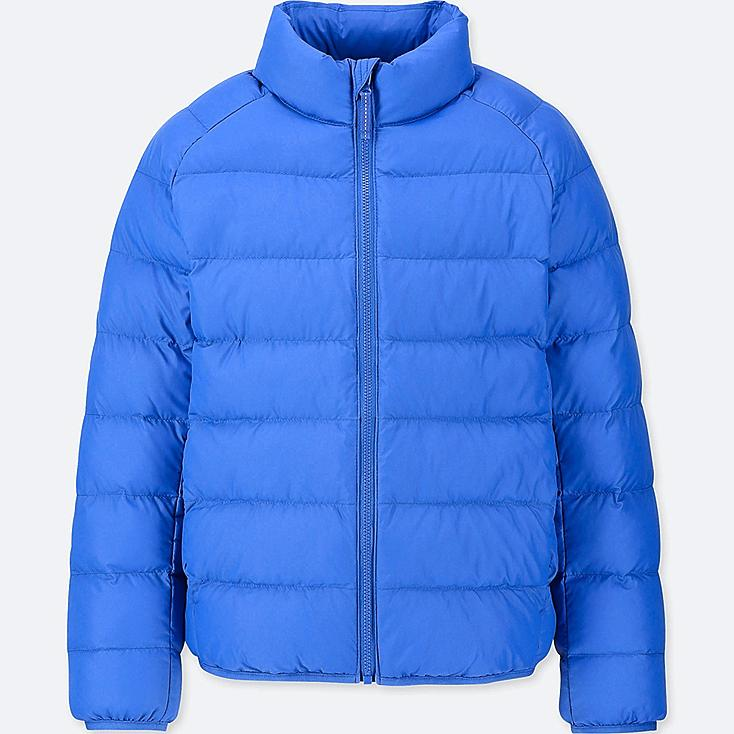 KIDS LIGHT WARM PADDED JACKET, BLUE, large