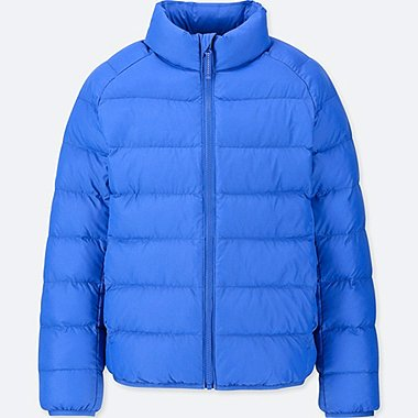 KIDS LIGHT WARM PADDED JACKET, BLUE, medium