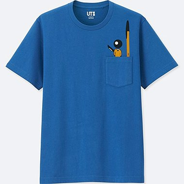 THE BRANDS SHORT-SLEEVE GRAPHIC T-SHIRT (BIC), BLUE, medium