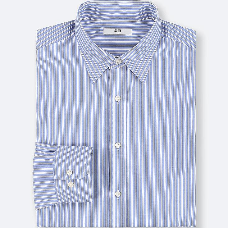 MEN EASY CARE STRIPED REGULAR-FIT LONG-SLEEVE SHIRT (ONLINE EXCLUSIVE), BLUE, large