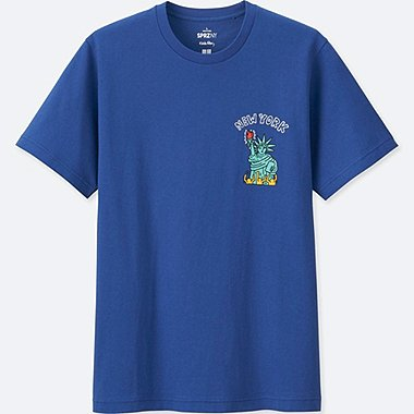 MEN SPRZ NY SHORT-SLEEVE GRAPHIC T-SHIRT (KEITH HARING), BLUE, medium