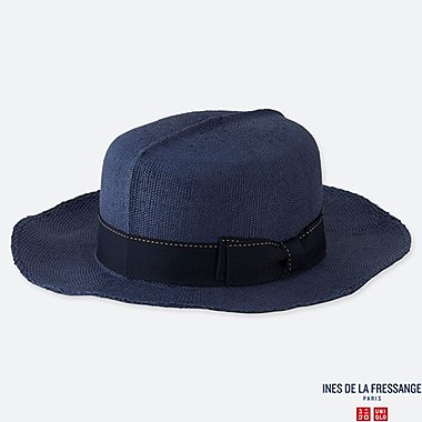 WOMEN PAPER OPTIMO HAT (INES DE LA FRESSANGE), BLUE, medium