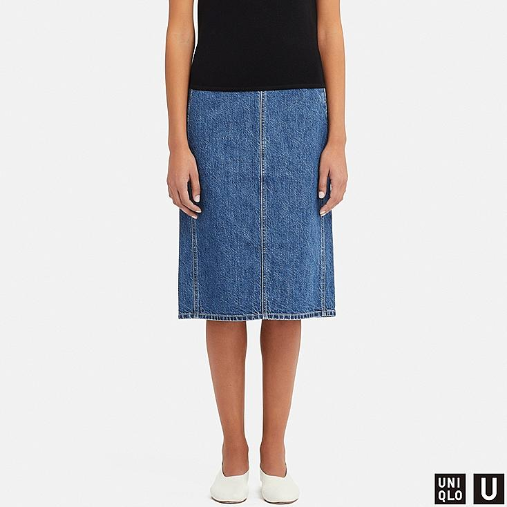 60a1d758c5 WOMEN UNIQLO U DENIM NARROW SKIRT