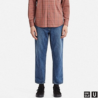 MEN UNIQLO U WIDE LEG TAPERED JEANS